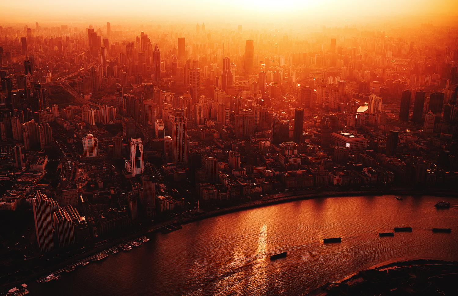 Shanghai Sunset by Alexander Jonsaas