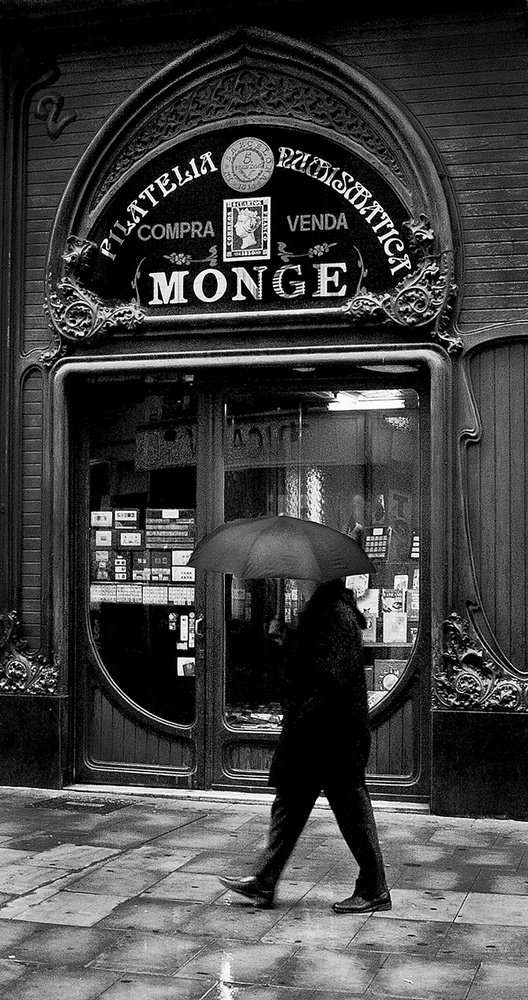 Wet Day in Barcelona by Patrick Noone