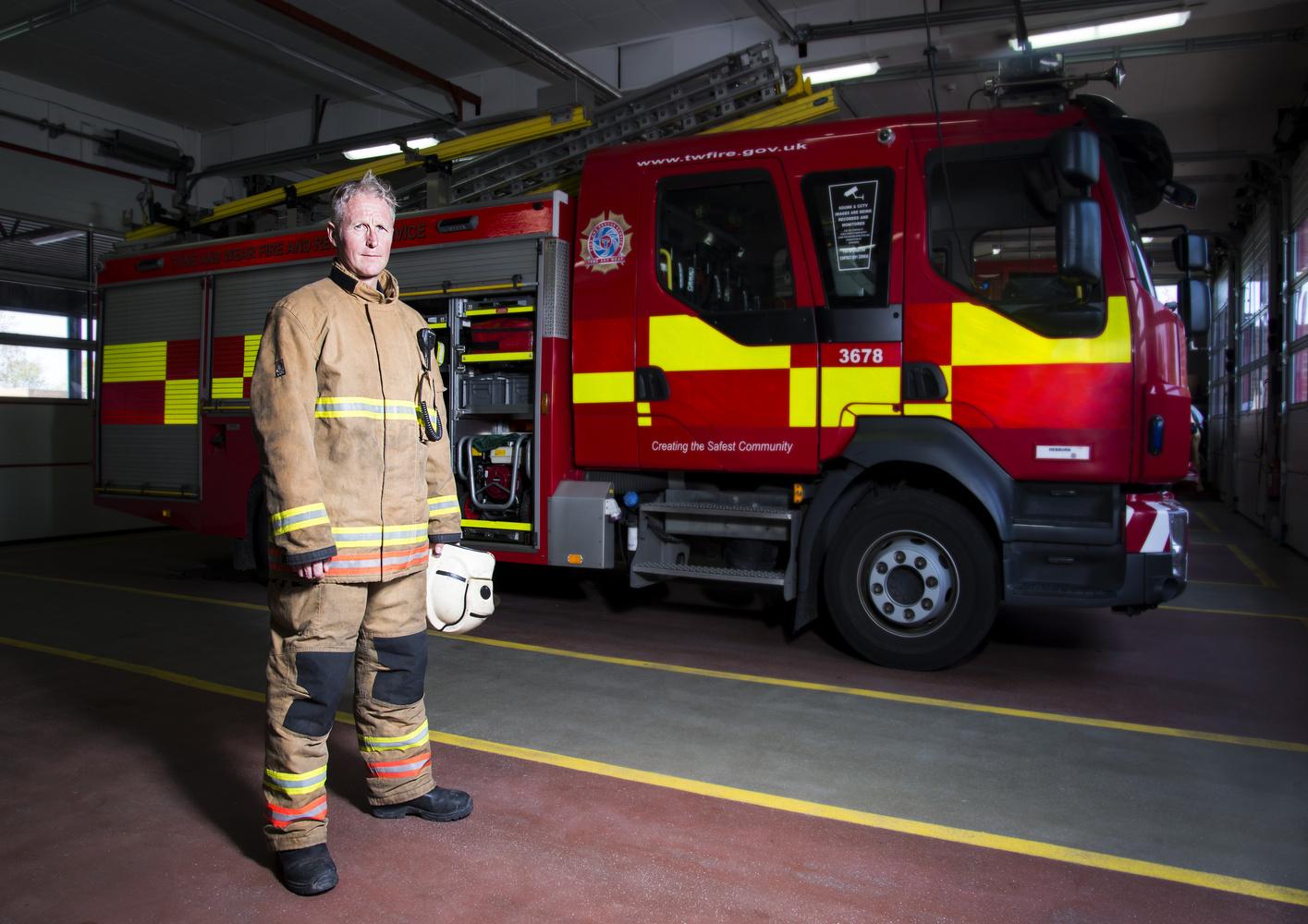 Fireman Darren by Nicholas Dunn