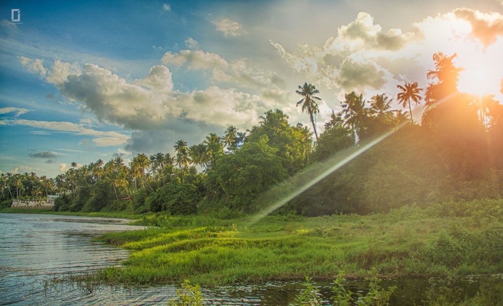 Glimmer of a sunset by Jan Joseph George