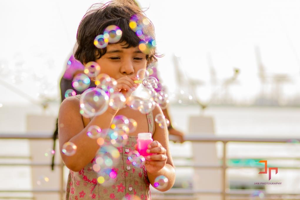 Bubbles do smile by Jan Joseph George