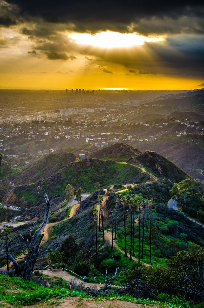 Sunset over Century City by Paul Kowalski