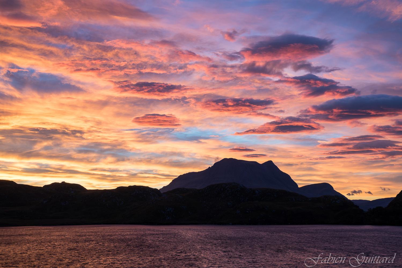 Sunrise on Loch Buine Moire #3, Scottish Highlands by Fabien Guittard