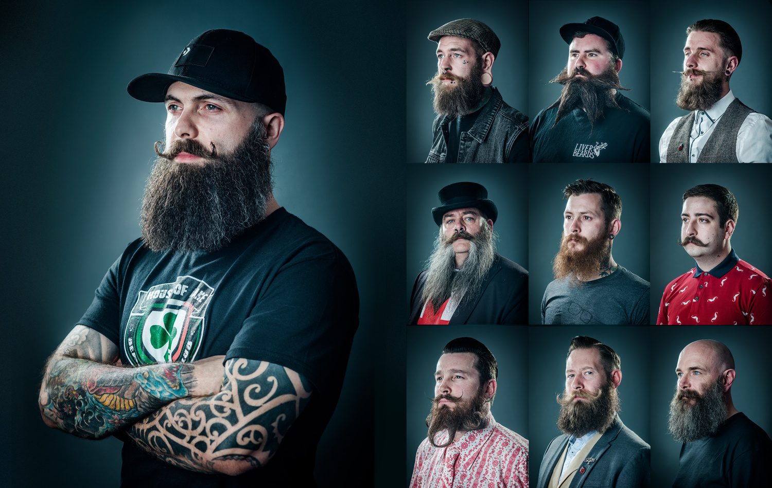 Beard competition portraits by Chris Doyle