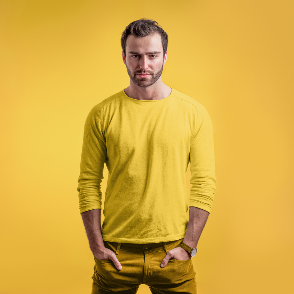 portrait on yellow by Chris Doyle