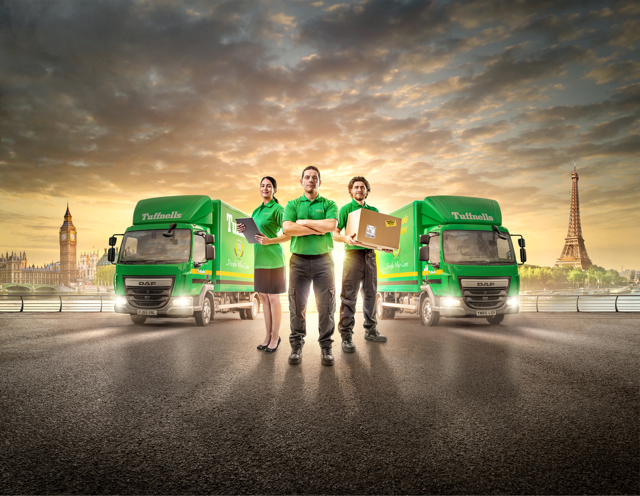 New imagery for Tuffnells Parcel Delivery by Chris Doyle