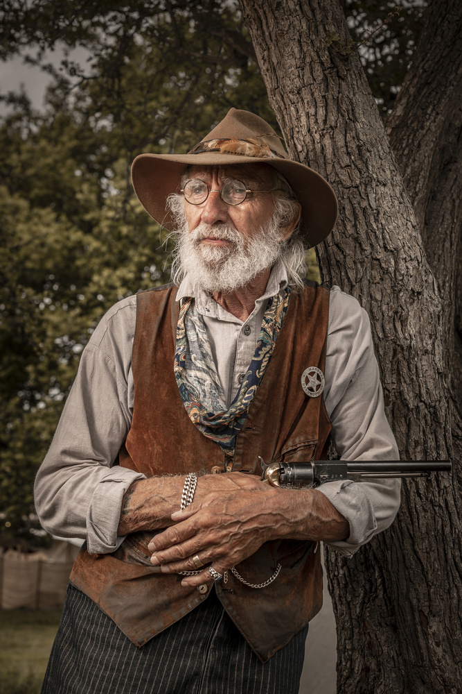 Old cowboy by Chris Doyle