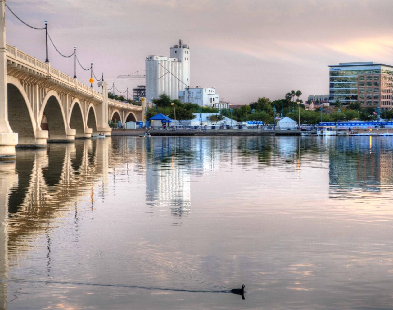 Tempe town Lake Bridge by John McCracken