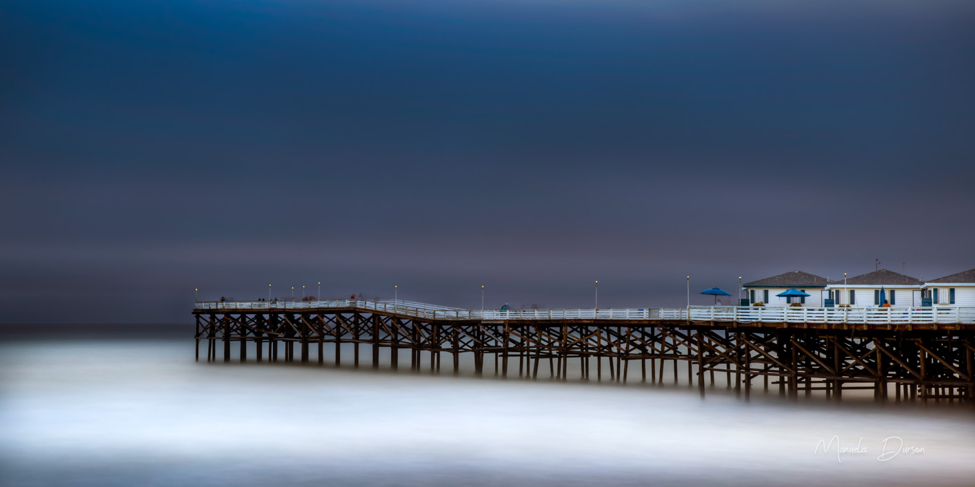 Evening Stroll at the Pier by Manuela Durson
