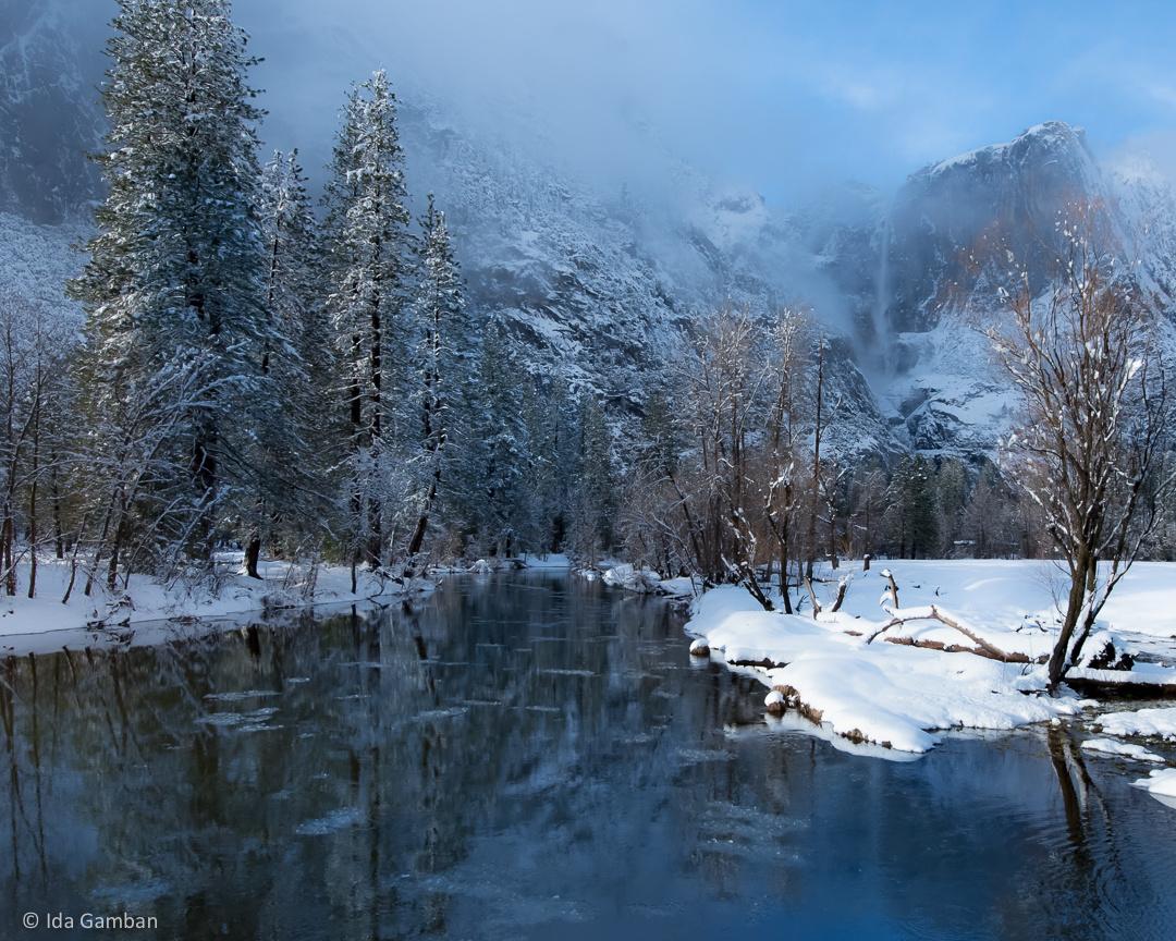 Frazil Reflections | Yosemite National Park, CA by Ida Gamban