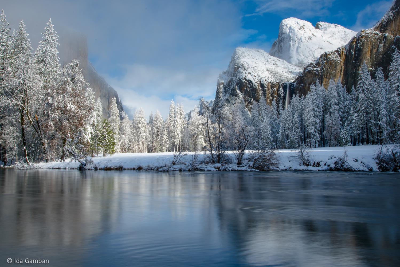 Sun and Snow   Yosemite National Park, CA by Ida Gamban