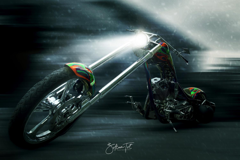 Arctic Motorcycle by Zoltan Tot