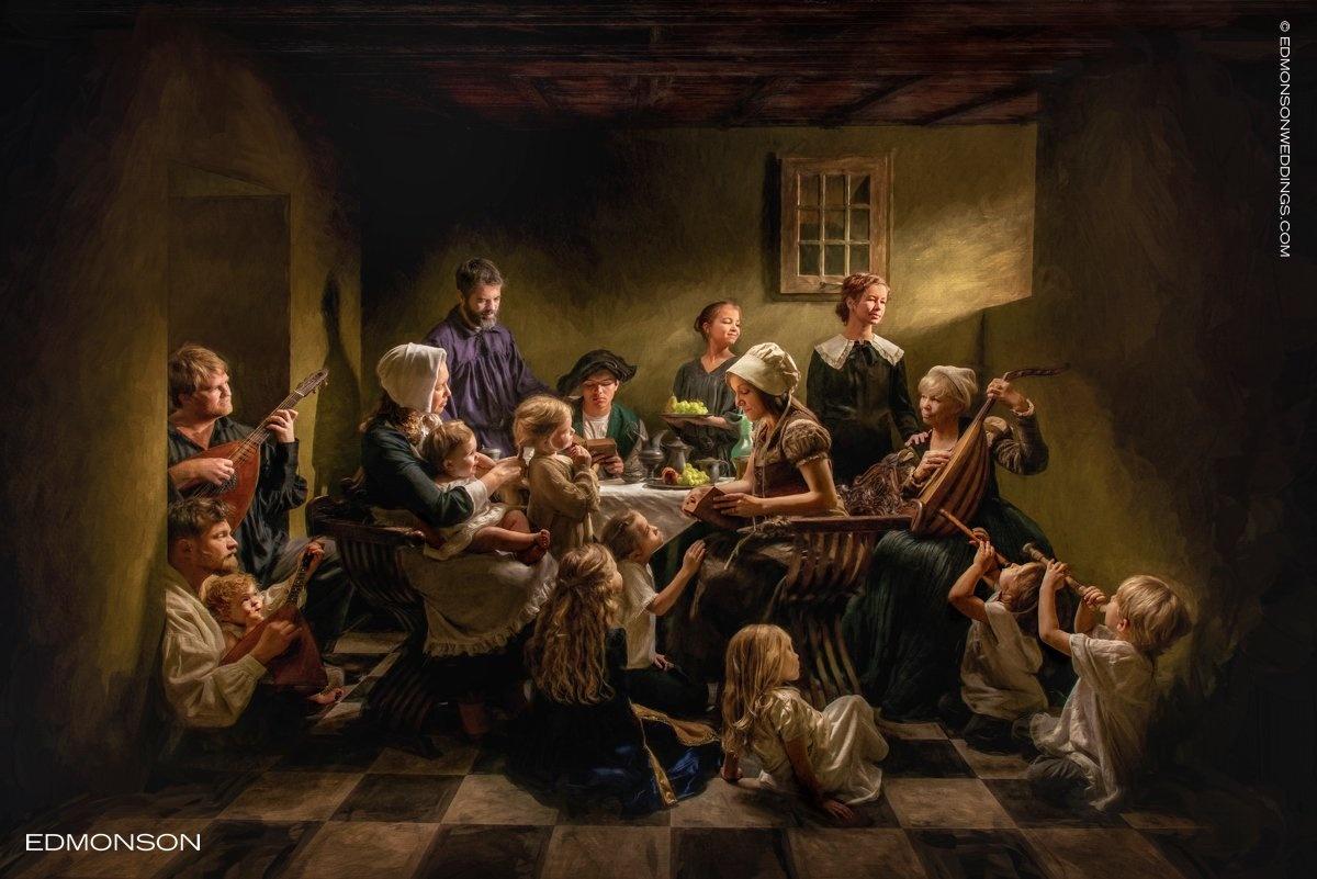 Caravaggio Inspired Family Photo by Luke Edmonson