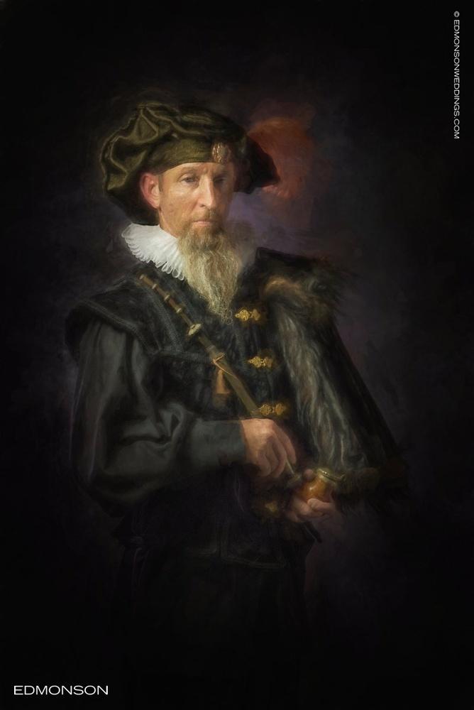 Study of Rembrandt In Portraiture by Luke Edmonson
