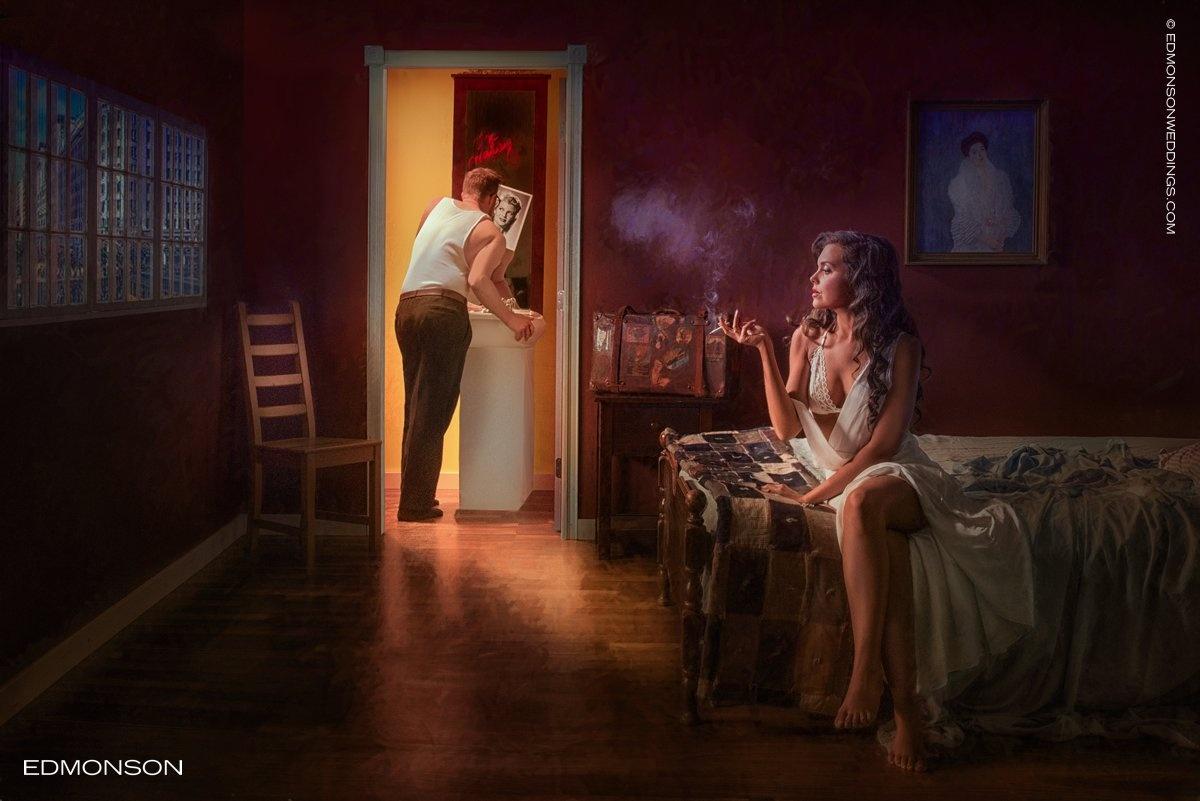 Hopper Inspired Photography by Luke Edmonson