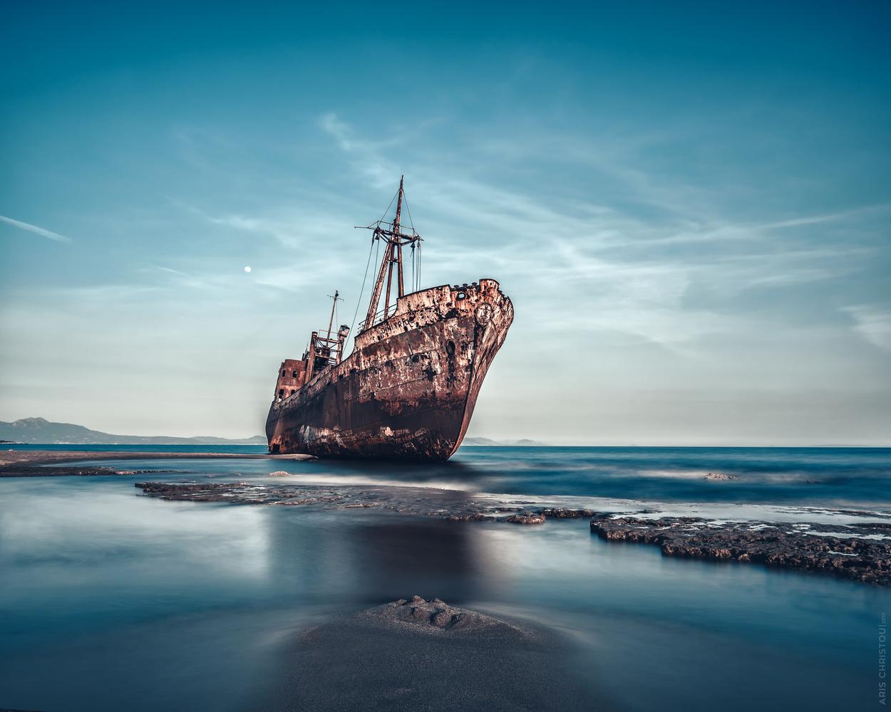 Dimitrios Shipwreck | Gytheio, Greece by Aris Christou