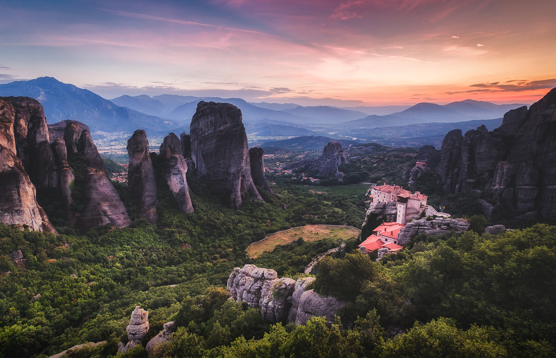 Monasteries of Meteora by Stephen Vincent-Grace