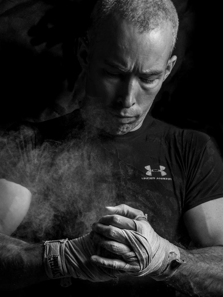 Portrait of a Kickboxer by Travis Fultz