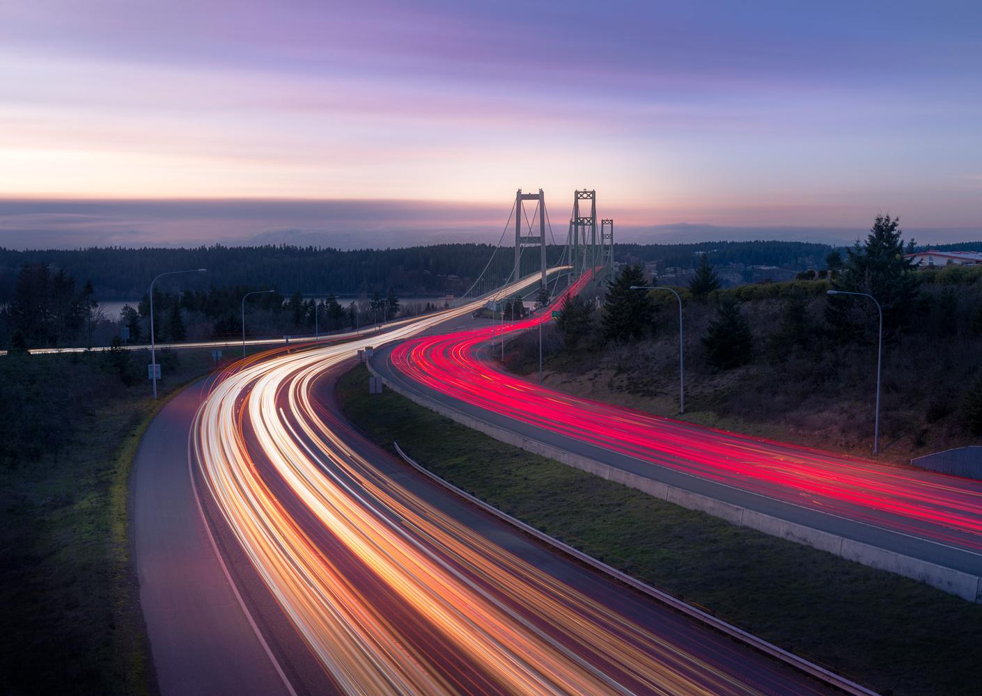 Sunset at the Narrows by Bogdan Tishchenko