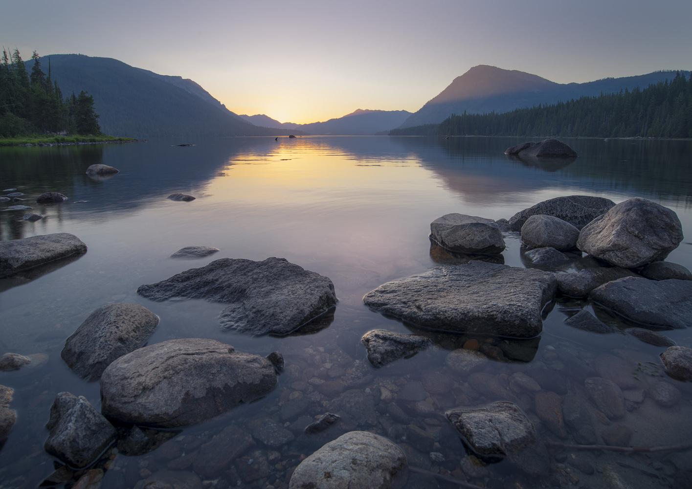 Lake Wenetchee Sunset by Bogdan Tishchenko