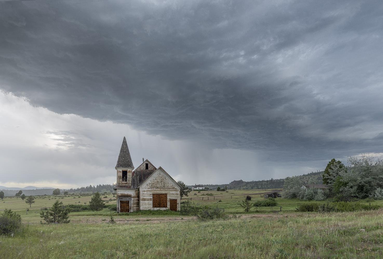Abandoned House on a Prairie by Bogdan Tishchenko