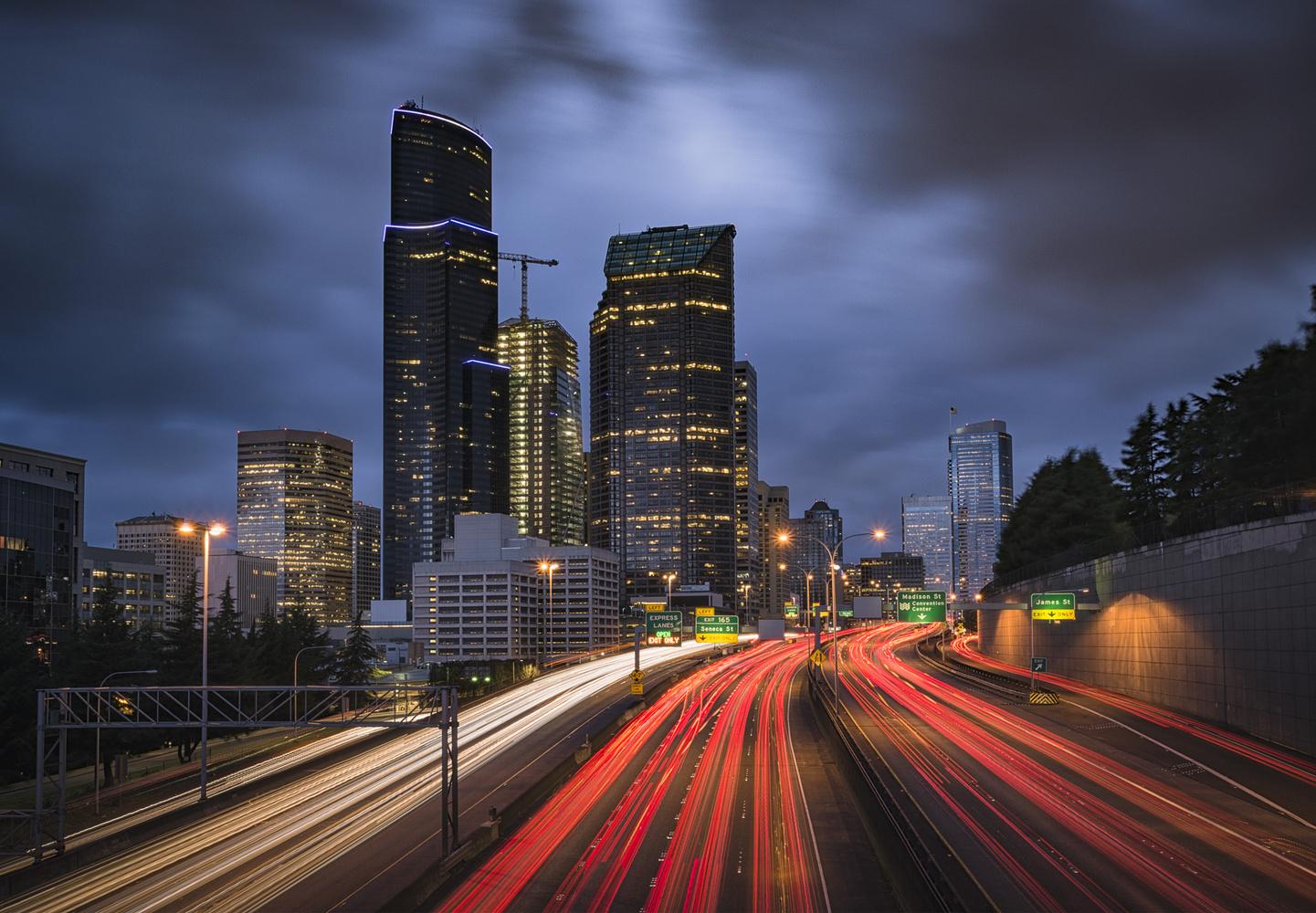 Seattle Rush Hour by Bogdan Tishchenko