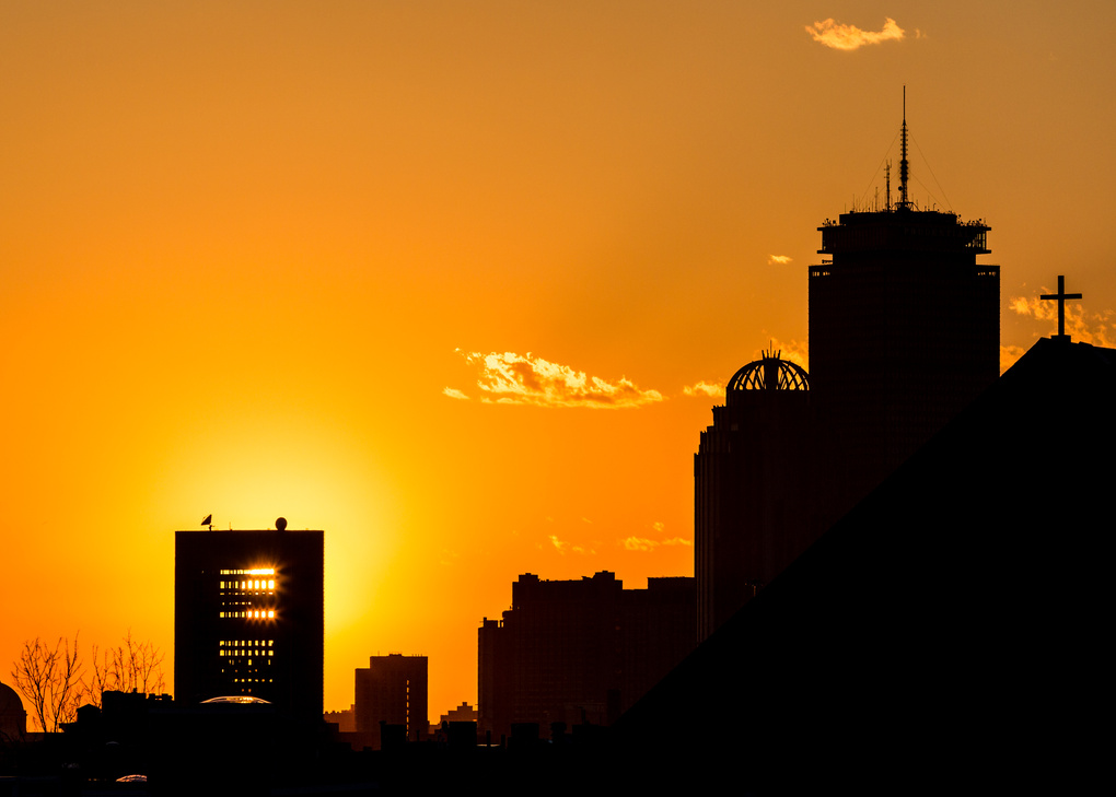 Sunset over Boston by Kevin Hatcher