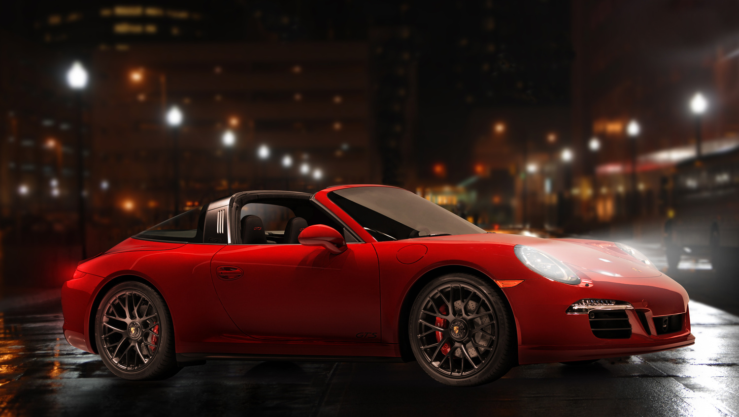 Red Porsche by andy greenwell