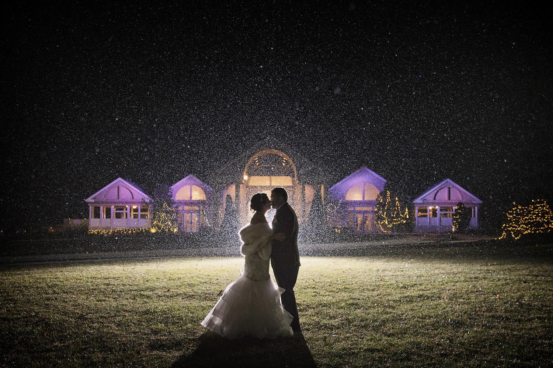 Winter Wedding Silhouette by Joseph Humphries