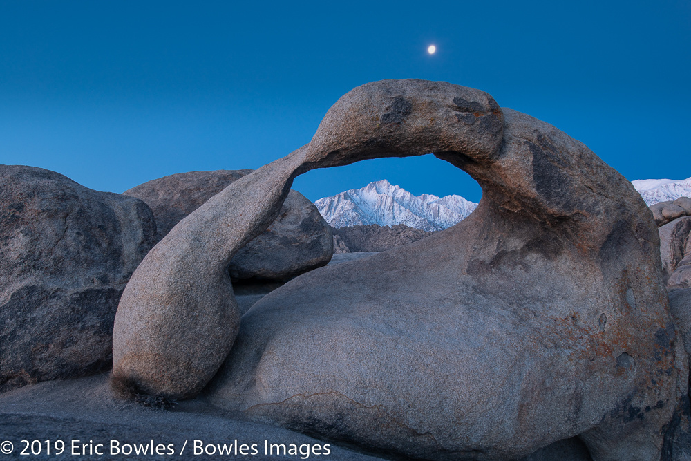 Mobius Arch with Moon by Eric Bowles