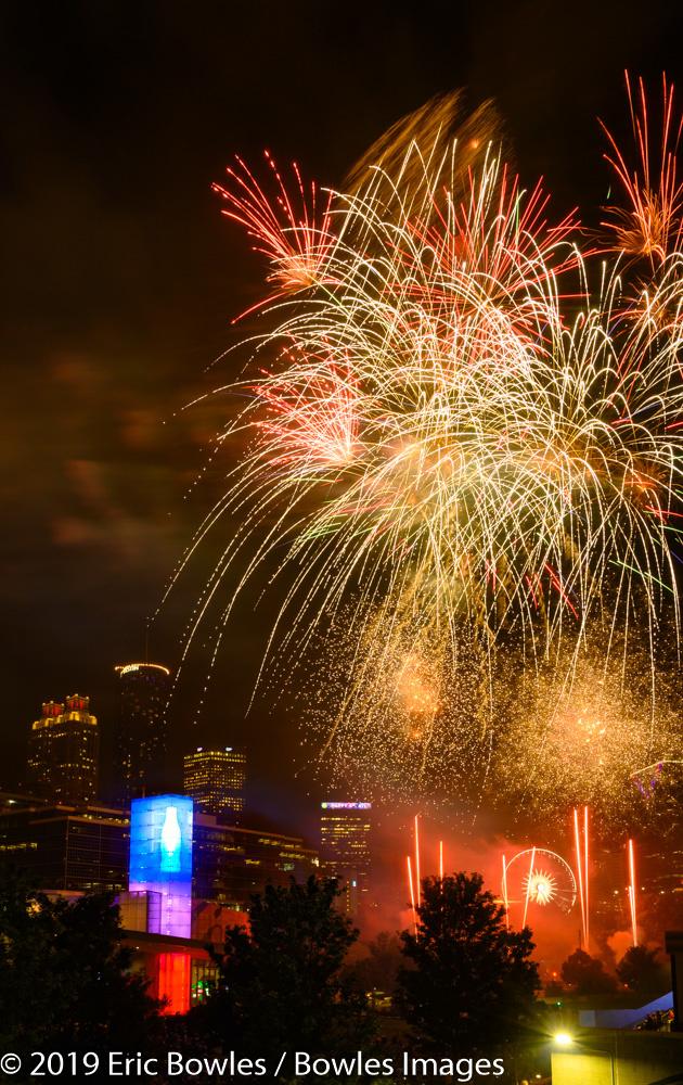 Atlanta Centennial Olympic Park Fireworks by Eric Bowles