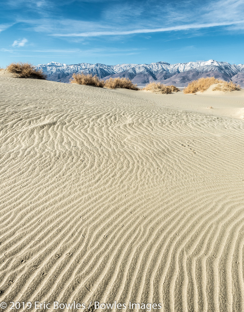Sand Patterns - Eastern Sierras by Eric Bowles