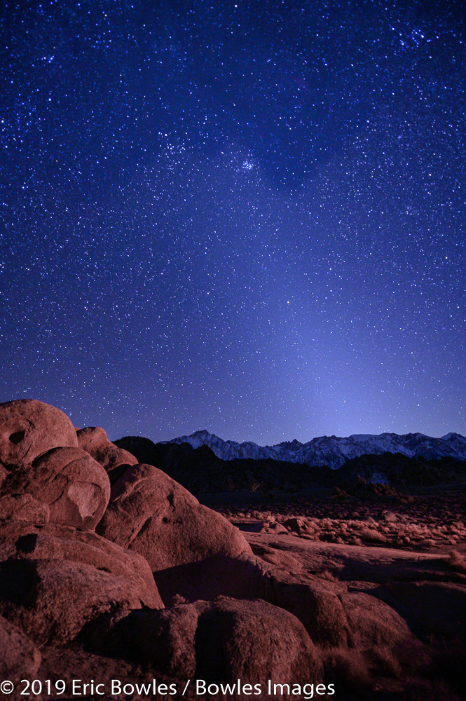 Alabama Hills Nightscape by Eric Bowles