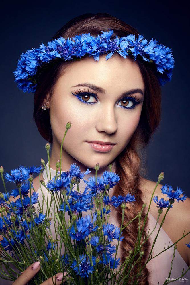 Miss Cornflower by Natalia Kaszuba