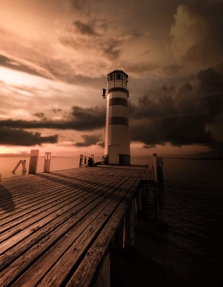 Sunset at the Lighthouse by Miguel Martins