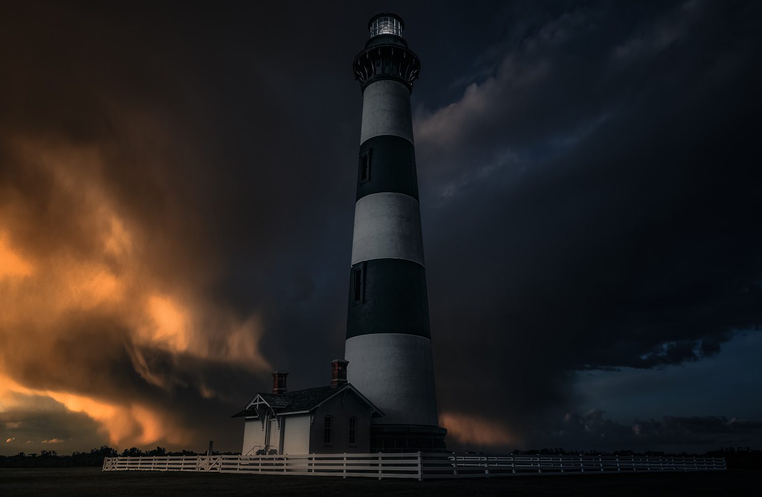 Lighthouse Storm by Miguel Martins