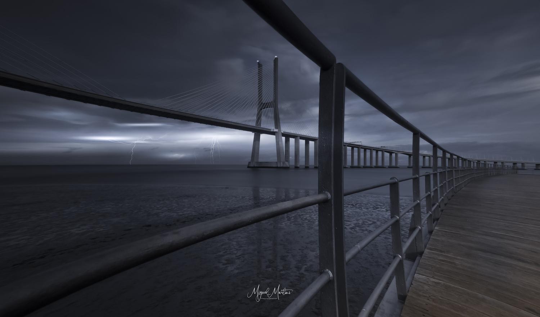 Vasco da Gama Bridge by Miguel Martins