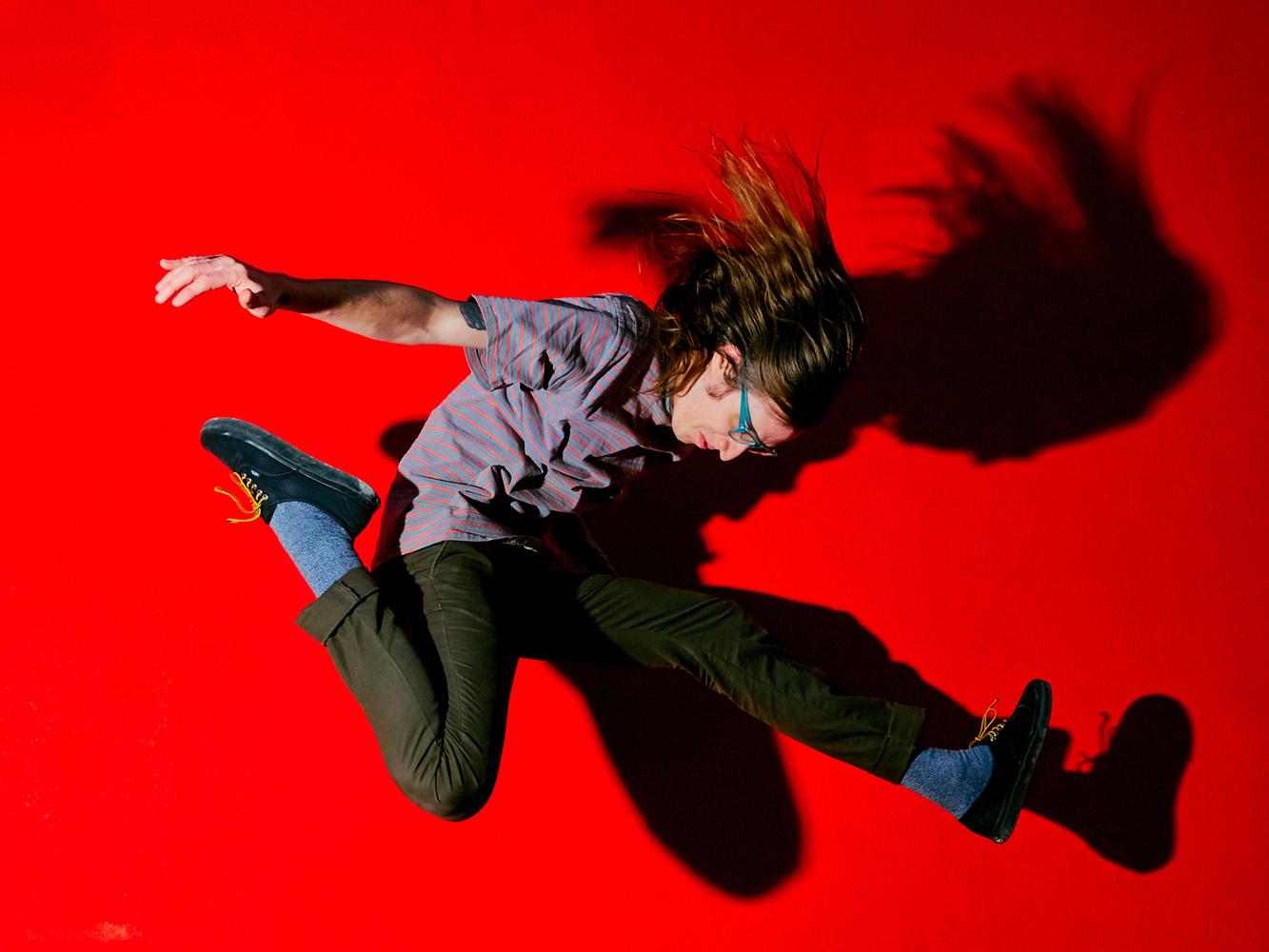 Jap Man Jump Red by Julian Foglietti
