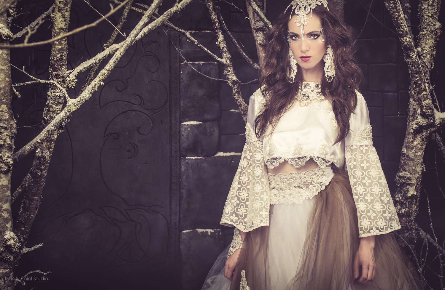 Winter Forest Fantasy Iberian Couture by Grey Proctor