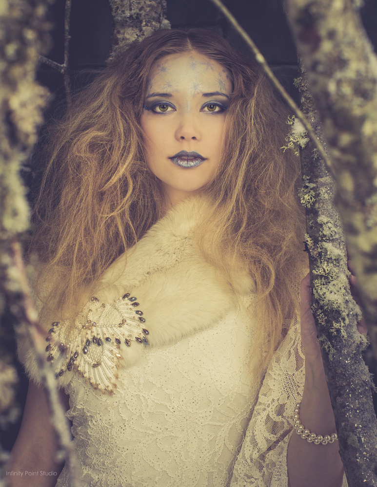 Winter Forest Fantasy Couture Fashion by Grey Proctor