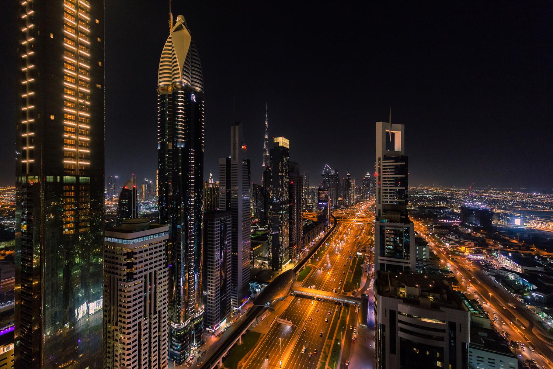 Dubai at Night by Alexander Meier