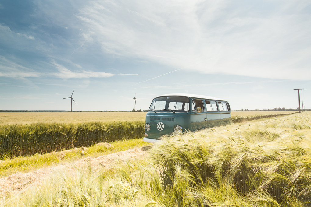 VW Typ2 at German countryside by Alex Krabes