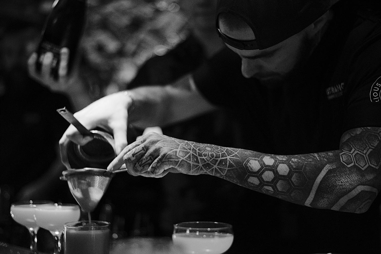Bartender at Stranger in Gothenburg by Jeena Paradies