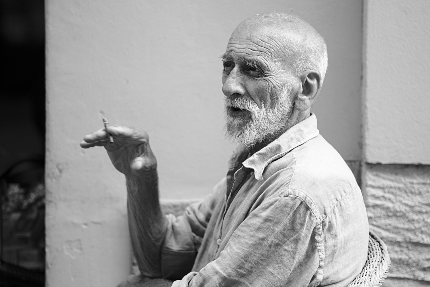 Old man in Italy by Jeena Paradies