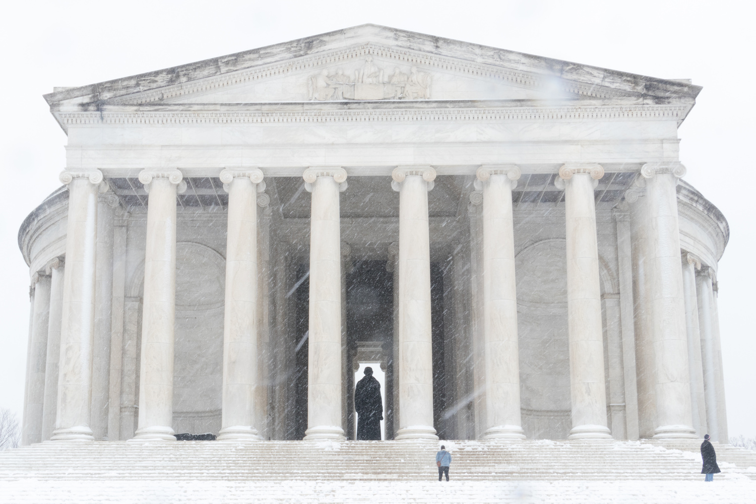 Jefferson Memorial in the Snow by Paul FIlios
