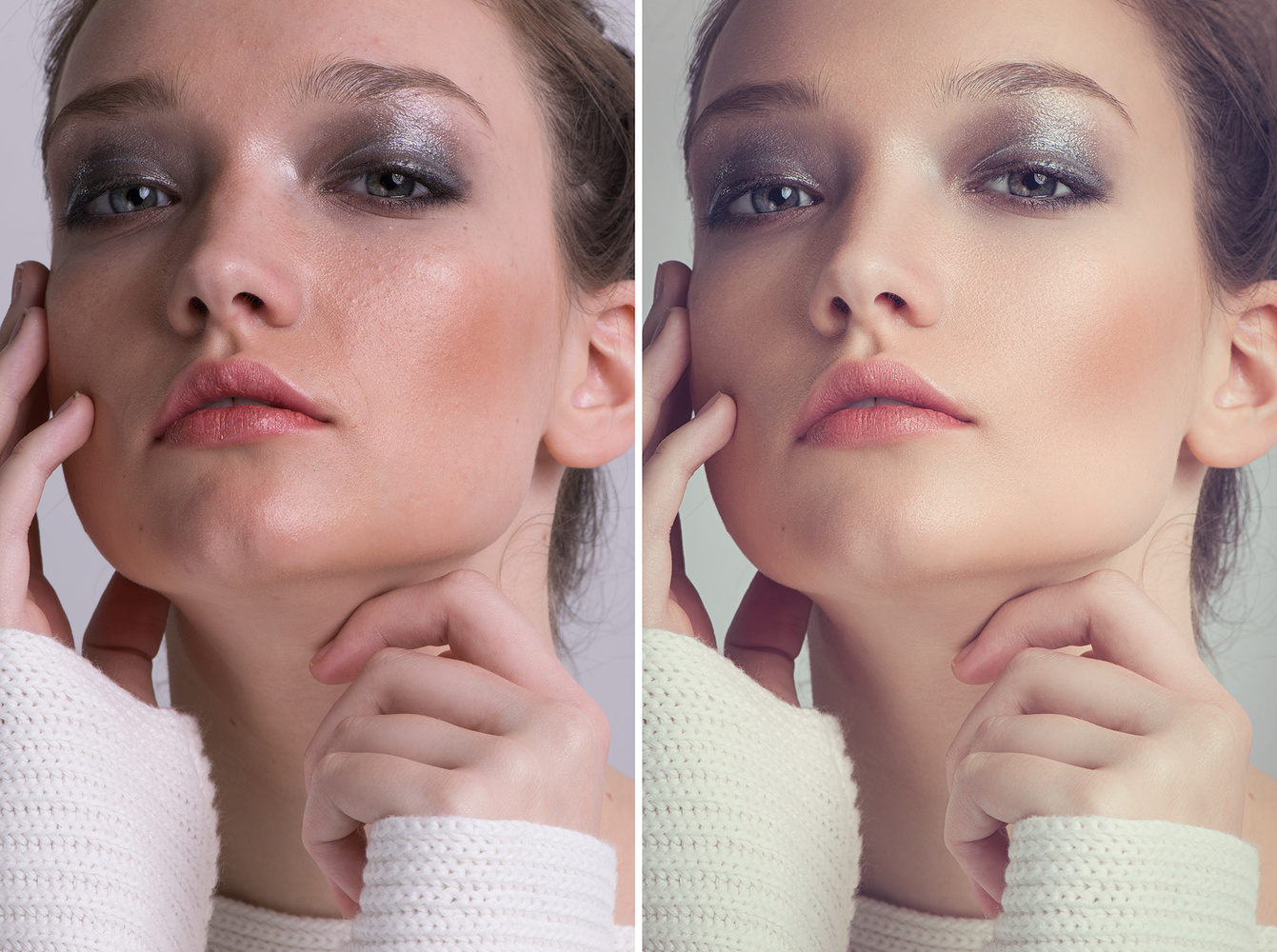 Beauty Portrait Before and After by Rebecca Maxwell