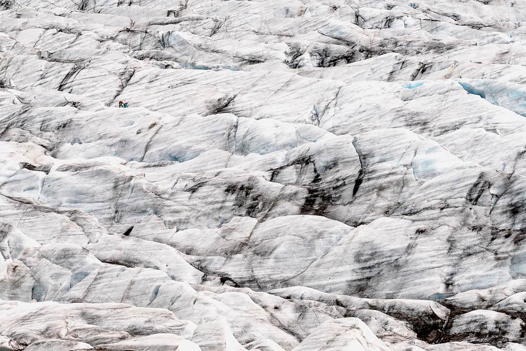 Men vs Glacier by Olivier Fahrni