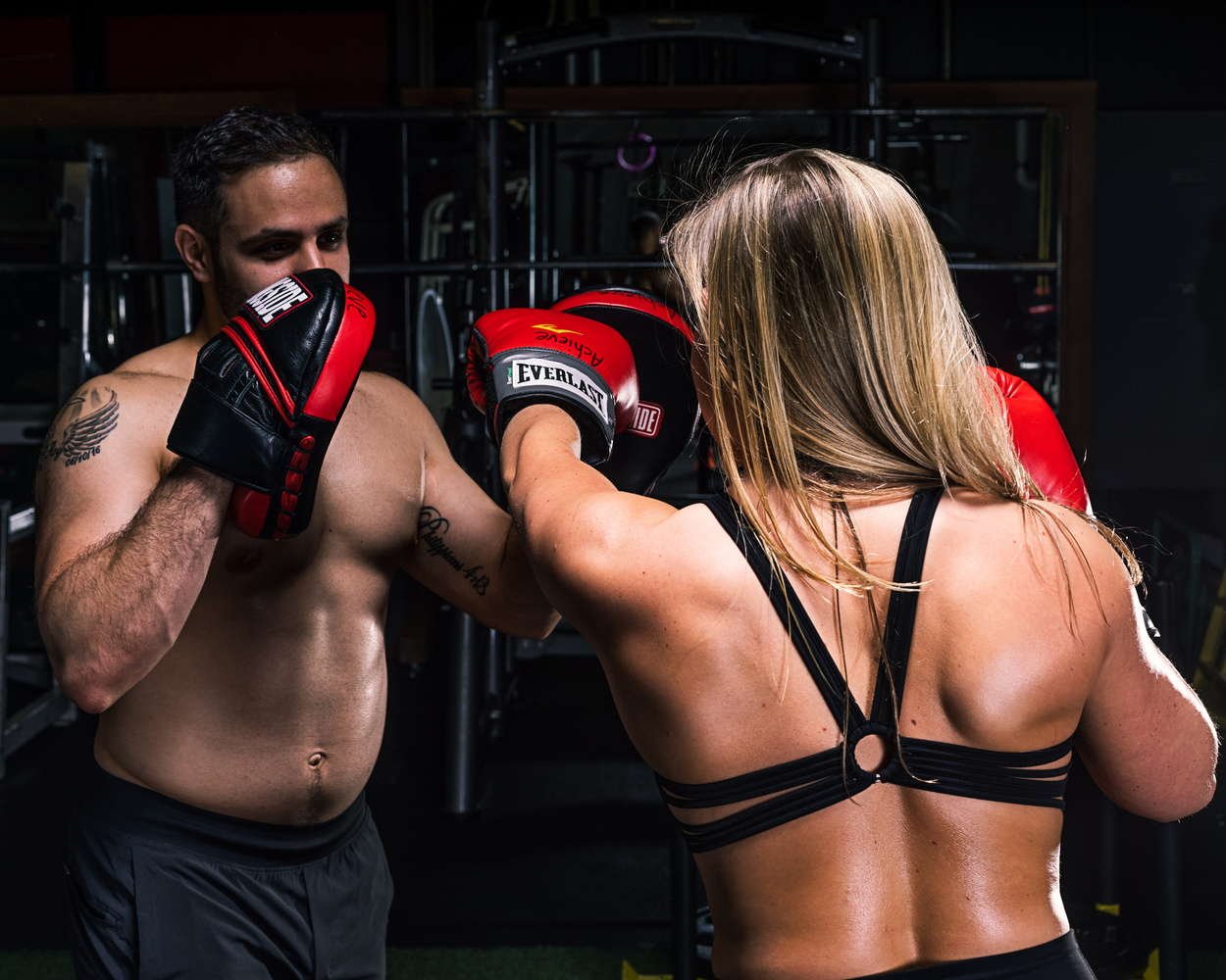 Fitness Haley/Rob Boxing by Dave Curtis