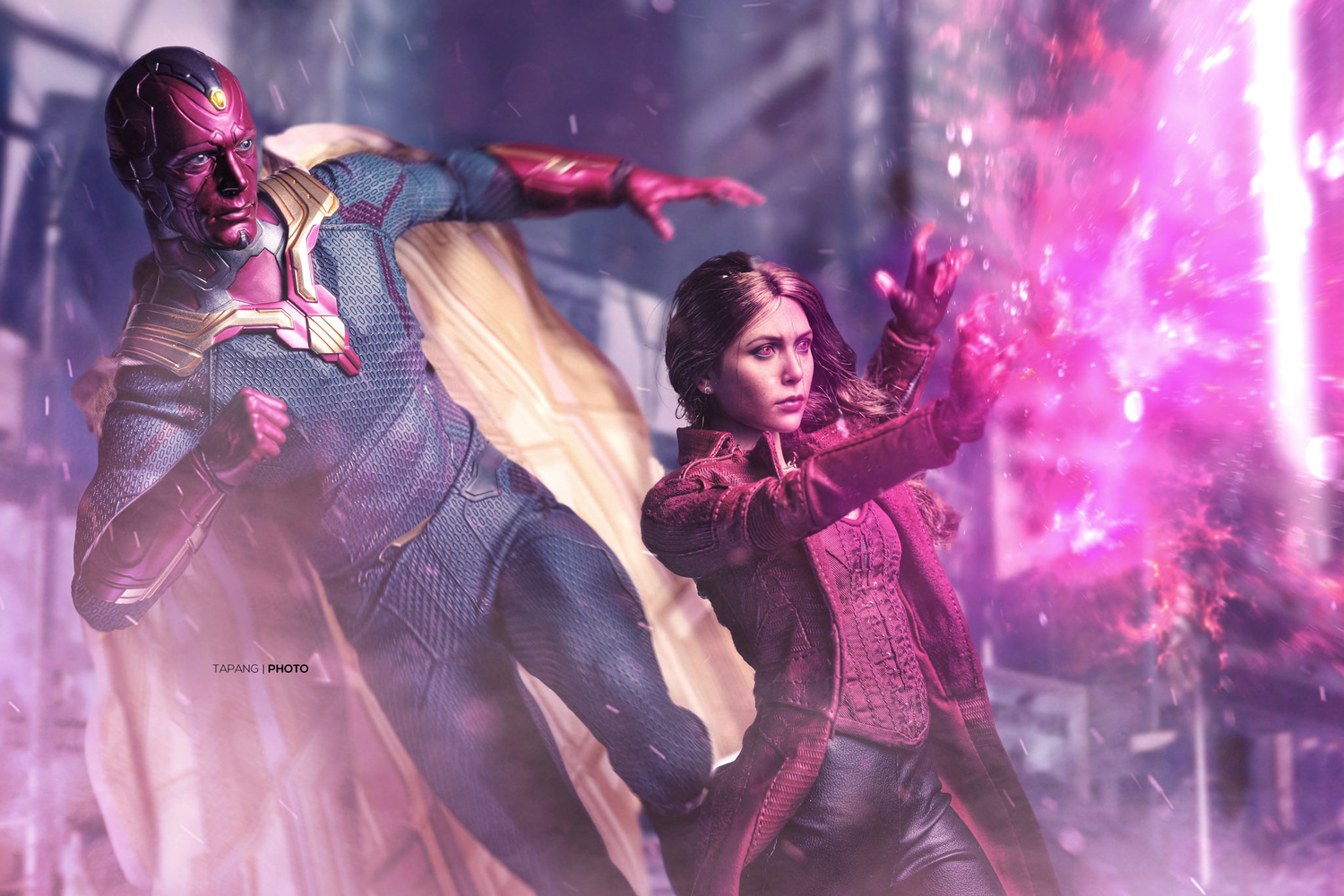 Vision and The Scarlet Witch by Pete Tapang