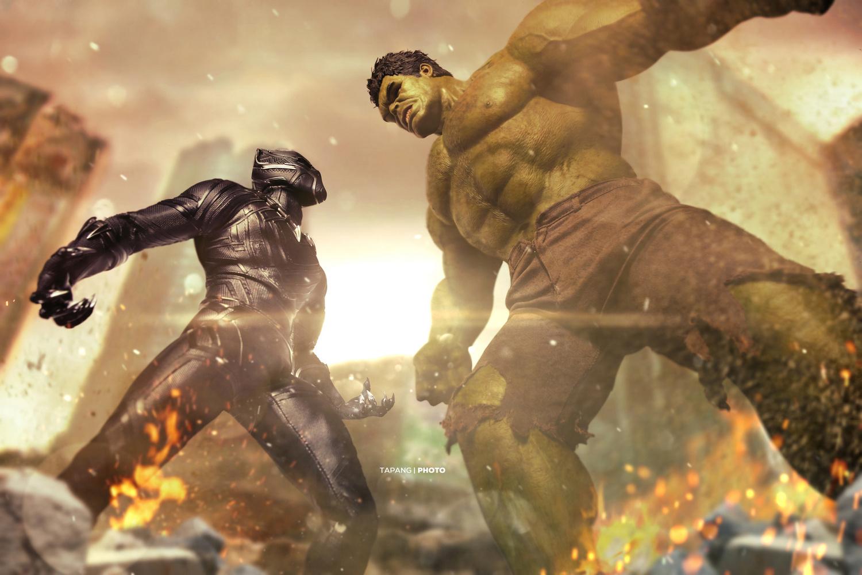 Hulk smash kitten man by Pete Tapang